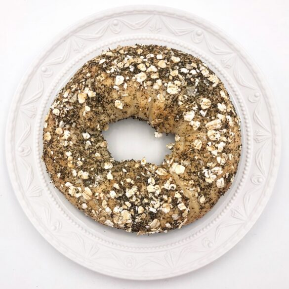 Mrs T Bagel mit Tee-Topping
