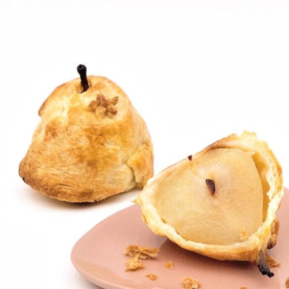 Rezept für Madeira-Birnen in Blätterteig